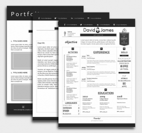 Finest CV Template - Resume + Cover Letter + Portfolio