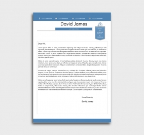 finest cv template - cover letter - without profile picture - azure
