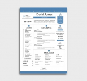 finest cv template - resume - without profile picture - azure