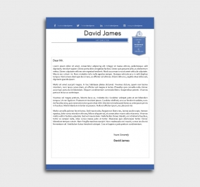 finest cv template - cover letter - without profile picture - blue