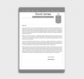 finest cv template - cover letter - without profile picture - gray