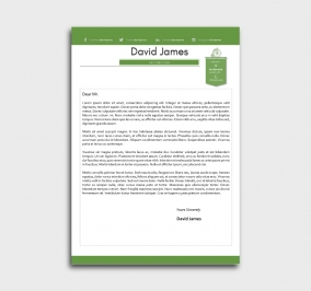 finest cv template - cover letter - without profile picture - green