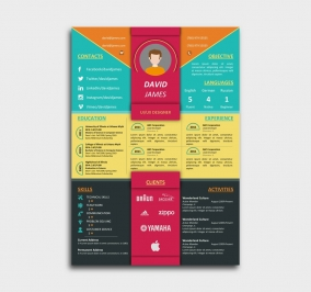 impress cv template -  resume