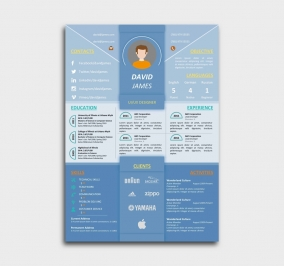 impress cv template - resume - azure