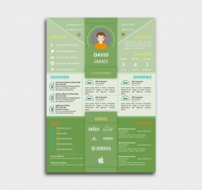 impress cv template - resume - green