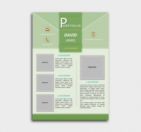 impress cv template - portfolio - green