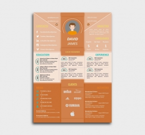 impress cv template - resume - orange