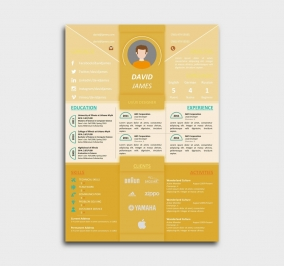 impress cv template - resume - yellow