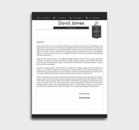 finest cv template - cover letter - without profile picture