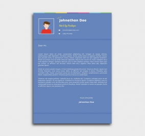 instant cv template - cover letter - blue