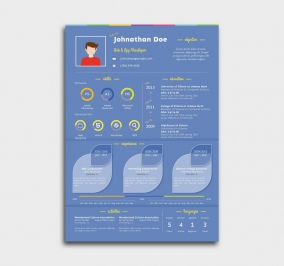 instant cv template - resume - blue
