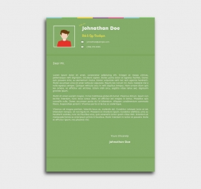 instant cv template - cover letter - green