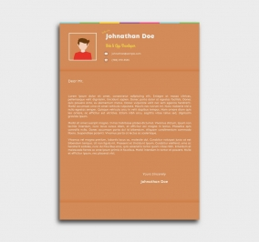 instant cv template - cover letter - orange