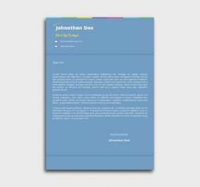 instant cv template - cover letter - without profile picture - azure