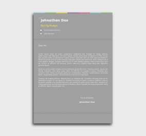 instant cv template - cover letter - without profile picture - gray