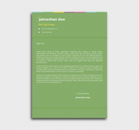 instant cv template - cover letter - without profile picture - green