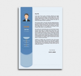 exceptional  cv template - cover letter - azure