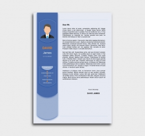 exceptional  cv template - cover letter - blue