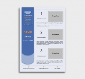 exceptional  cv template - portfolio - blue