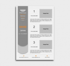 exceptional  cv template - portfolio - gray