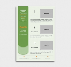exceptional  cv template - portfolio - green
