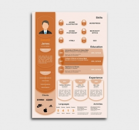 exceptional  cv template - resume - orange