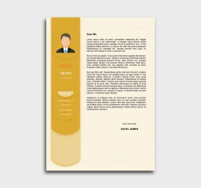 exceptional  cv template - cover letter - yellow