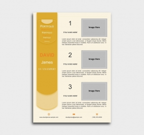 exceptional  cv template - portfolio - yellow