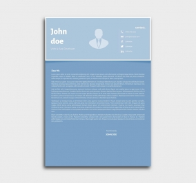 superior cv template - cover letter - azure