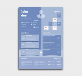 superior cv template - resume - azure - blue