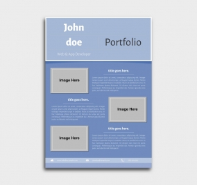 superior cv template - portfolio - blue