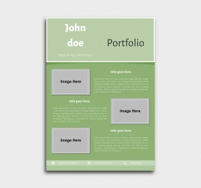 superior cv template - portfolio - green