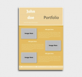 superior cv template - portfolio - yellow
