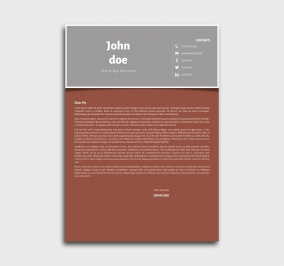 superior cv template - cover letter- without profile picture