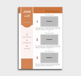 pro cv template - portfolio - orange
