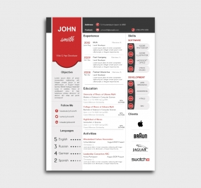 superior cv template - resume - without profile picture