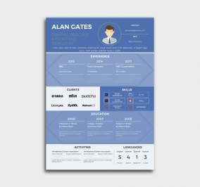 premium cv template - resume - blue