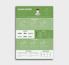 premium cv template - resume - green